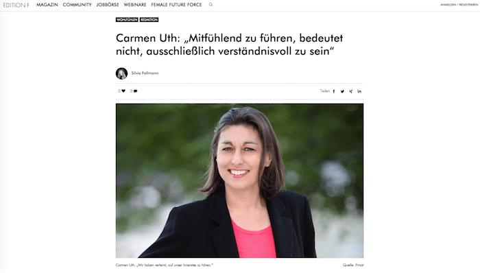 Emotionspflege Carmen Uth Im Interview Bei Edition F