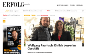 ERFOLG MAGAZIN Wolfgang Pauritsch