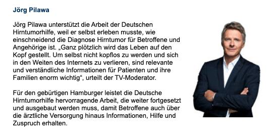 Deutsche Hirntumorhilfe, Jörg Pilawa