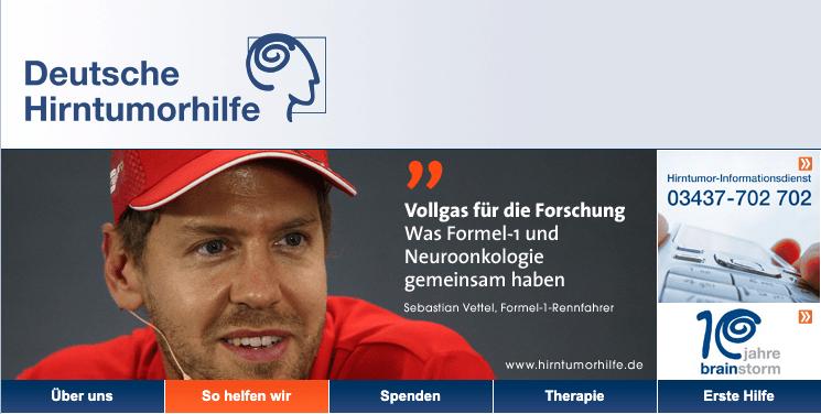 Deutsche Hirntumorhilfe, Sebastian Vettel