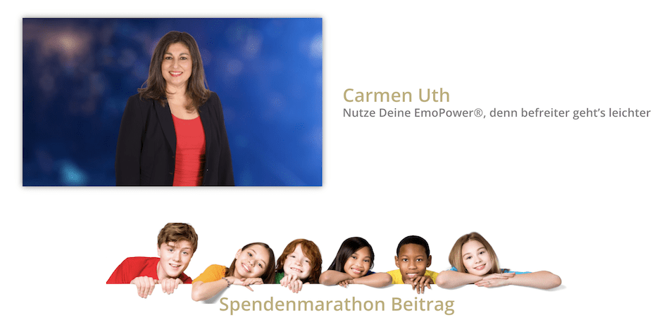 Speakerstars Spendenmarathon Carmen Uth